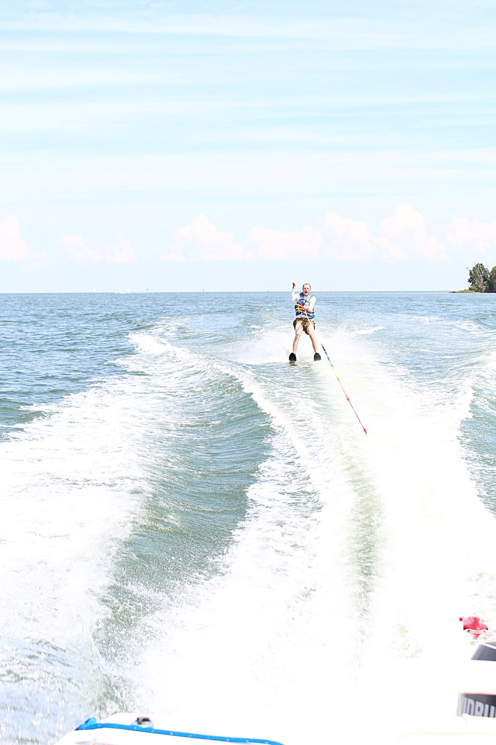 My dad water-skiing on his 60th birthday