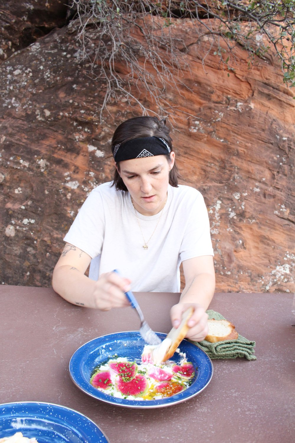 Dinner al fresco among the red rocks