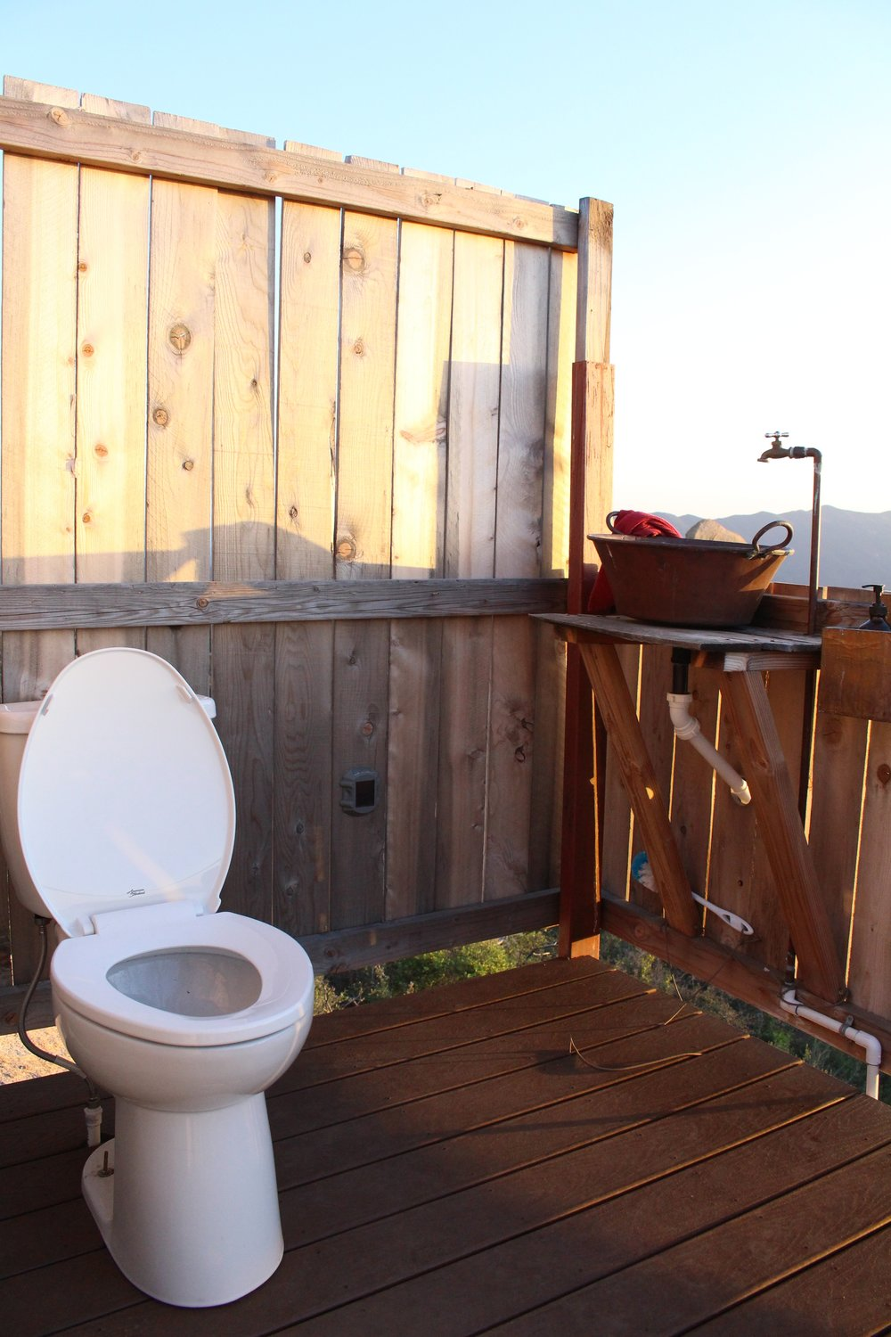 Never thought I'd post a pic of a toilet on my blog--but I've never seen one with a view!!