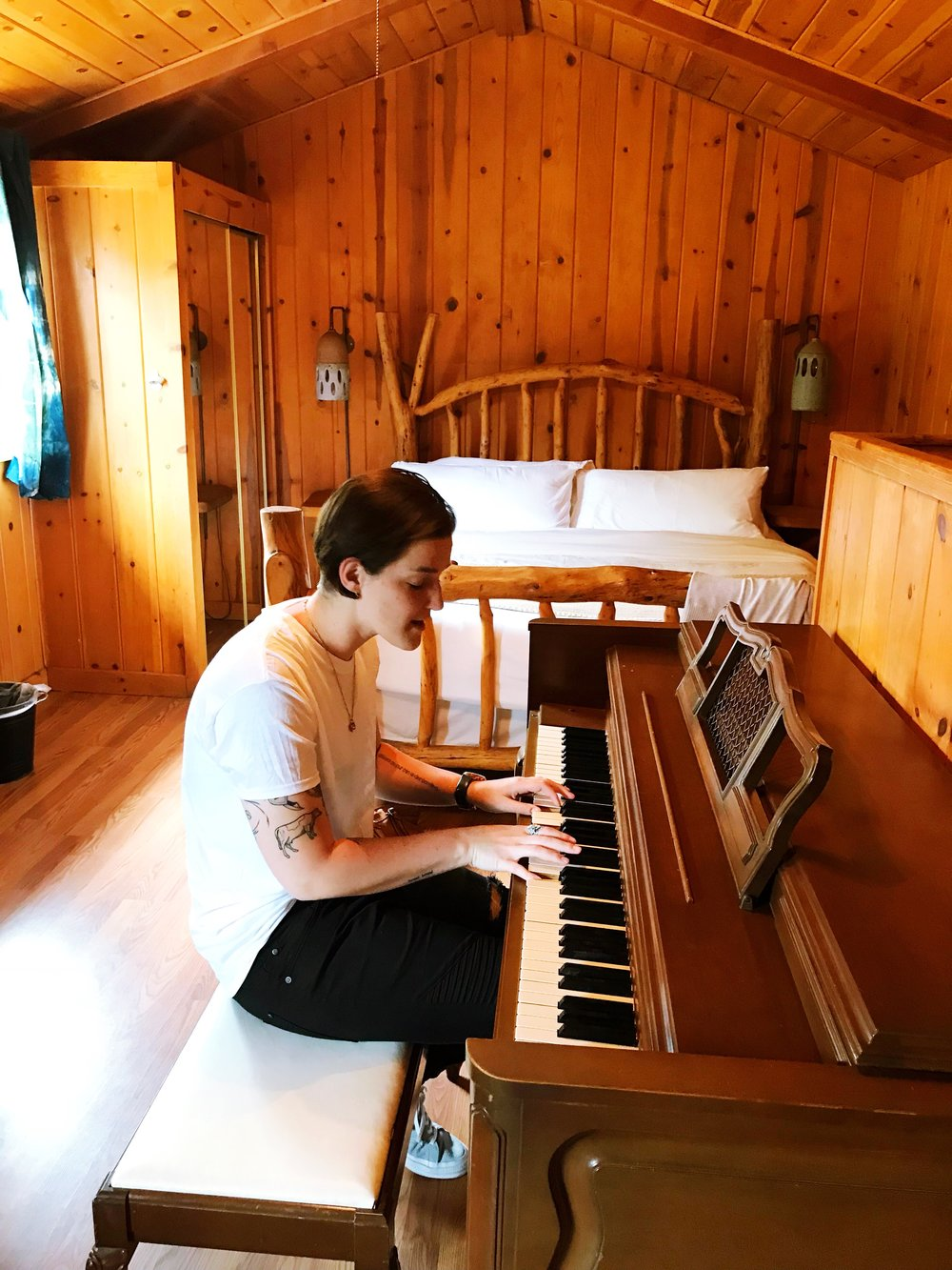 Having the piano in the room was clutch because Grace is working on tracking for her new record. Psst--you can get in on her record early  here .