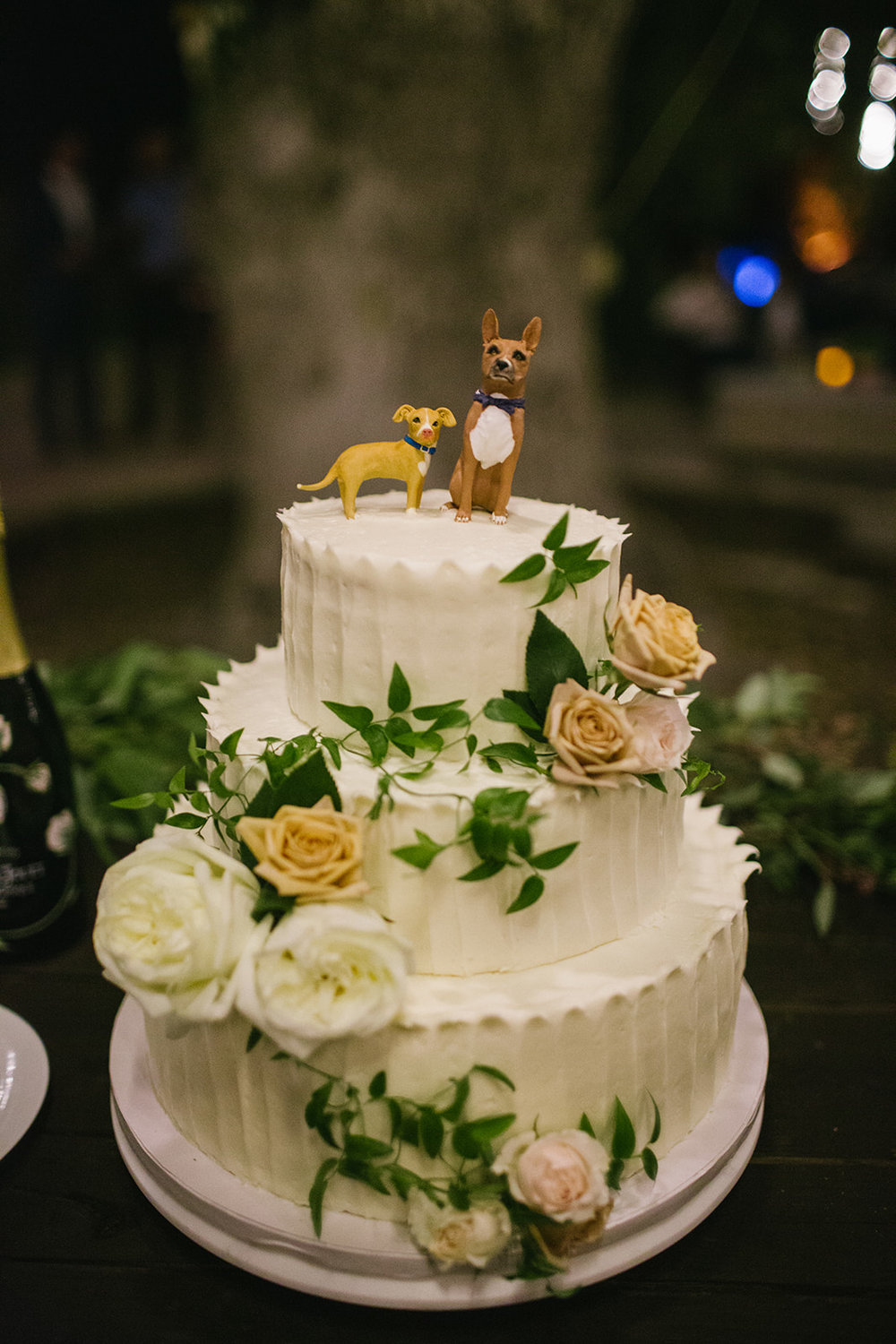 I had our custom wedding cake toppers made through  this Etsy shop