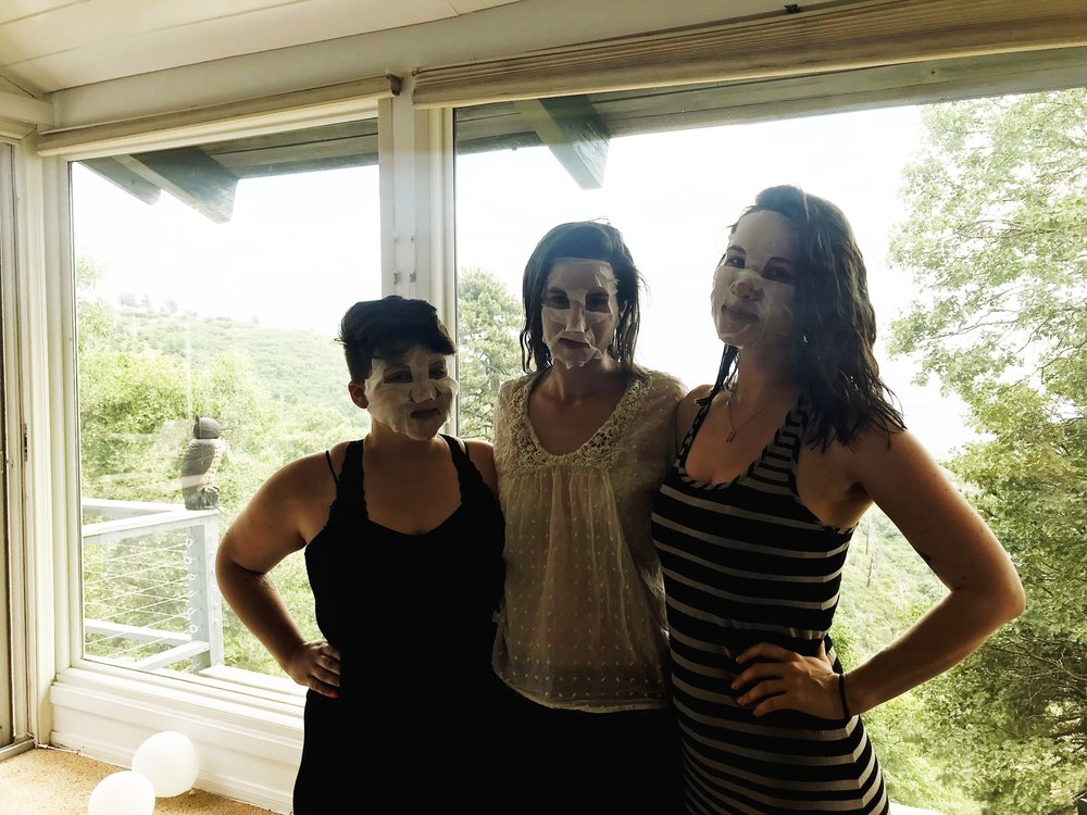 Sheet masks with friends