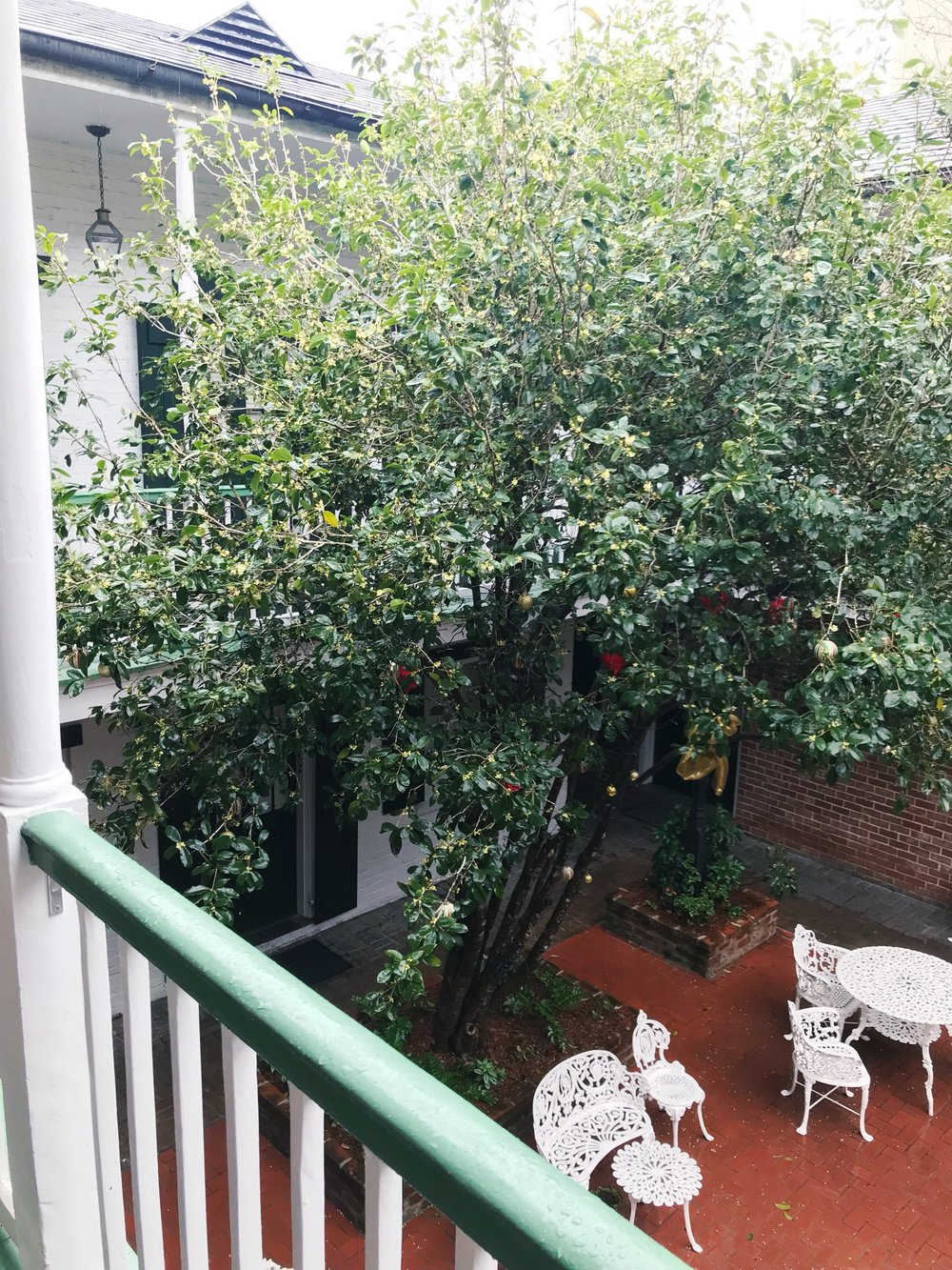 Our hotel had courtyards and wrought iron furniture and charming southern touches galore.