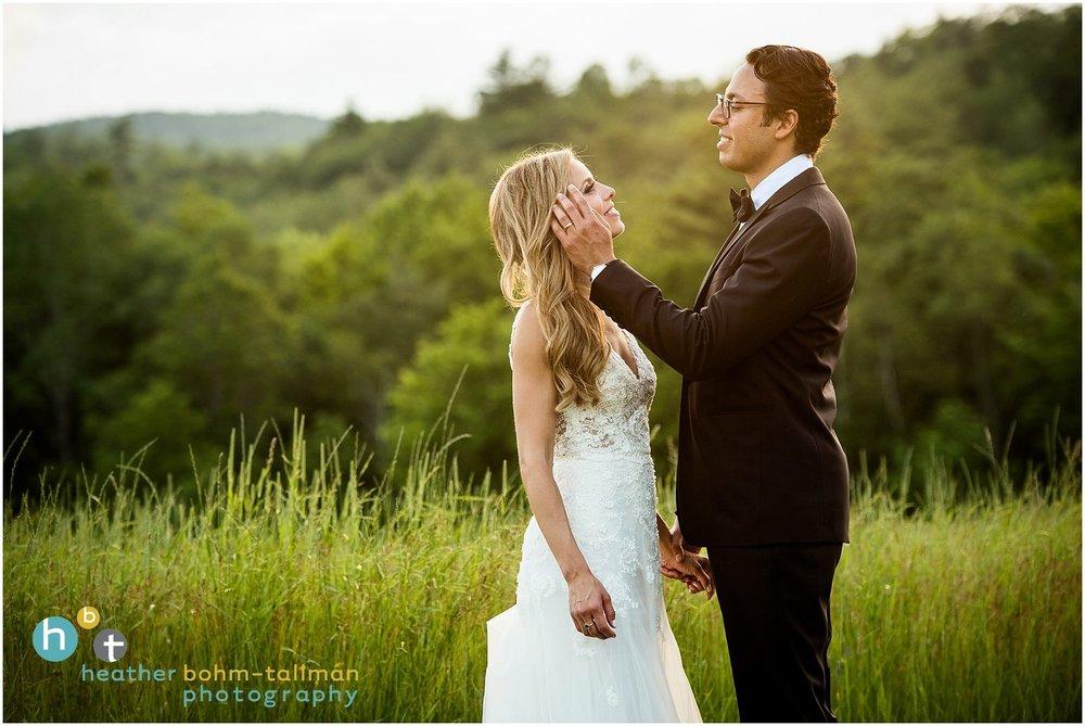 Stephanie and Bobby - Home: NYCWedding Destination: Adirondack MountainsPhotos by Heather Bohm-Tallman