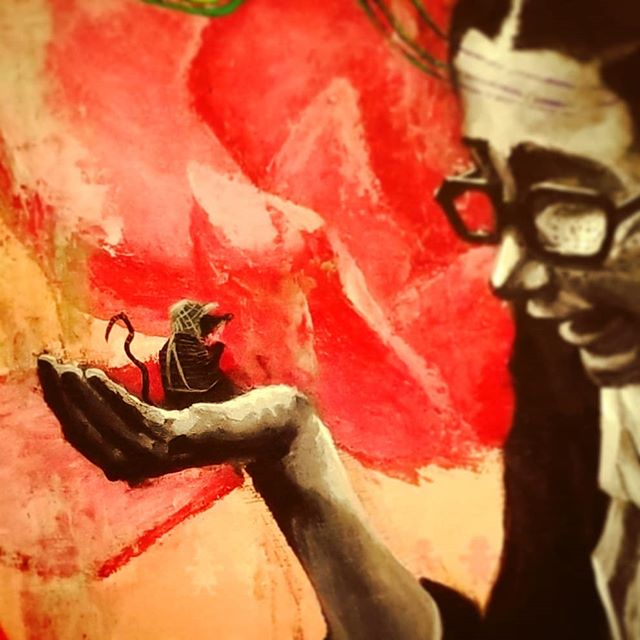 Getting there... check out the finished painting @thumbprintgallery this Saturday! SPECTRE opens this weekend!