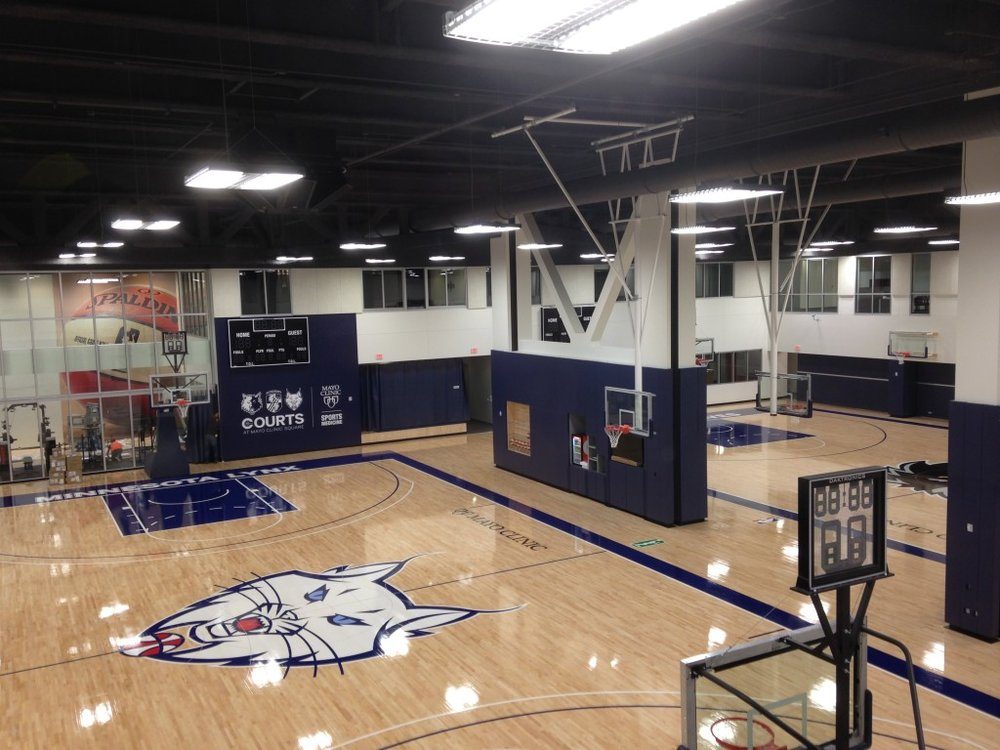 Lynx Practice facility (The Courts at Mayo Clinic Square) downtown mpls.