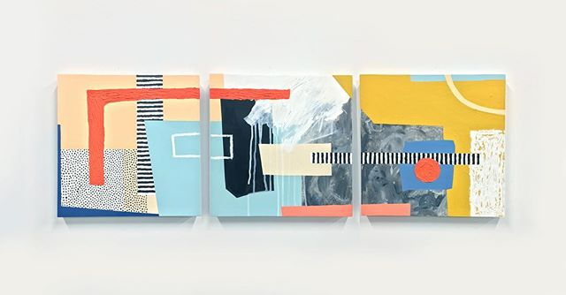 """Compartmentalize I by Ellen Rutt   @ellenrutt  Acrylic and Oil on Wood. 48"""" x 16"""". This piece was on view at the First Amendment Booth at this years Juxtapoz Clubhouse   @juxtapozmag in Downtown Miami. To learn more about the available works of Ellen Rutt contact info@firstamendmentgallery.com"""
