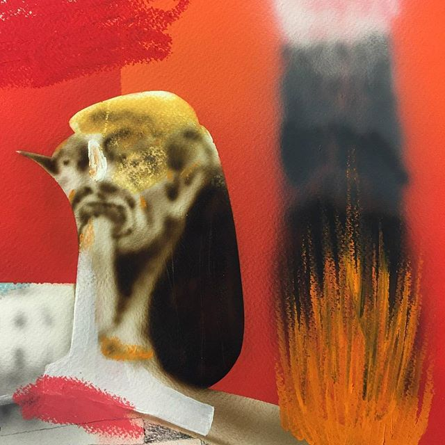 "Detail shot of new work by Casey Bolding @caseybkool for ""IN MOTION"" a group show opening this Saturday February 10th 7-10pm at @1amgenerator in downtown Oakland Aeron Roemer @anarkitsch Alfonso Gonzalez jr @_alfonsogonzalezjr Aneko @y0ucantwin  Casey Bolding @caseybkool  Feral Child Novel Paul Flores @plflrs  Sluto @vibedoubt  Sparkle Dazey @sparkledazey"