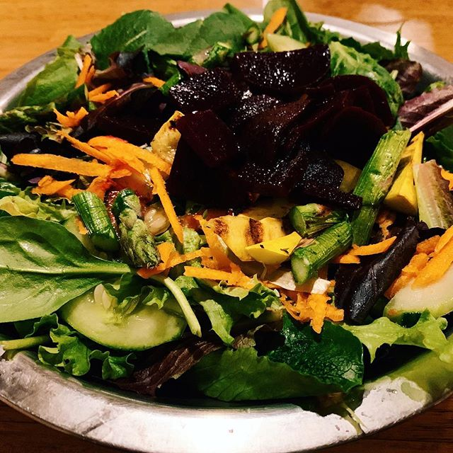 There was a time I dislike vegetables. It was until I learned the importance of including veggies in my diet (Medical School didn't teach me that) that I had to train my taste buds to like them. It wasn't as hard as I thought, it only took me 10 days to start craving them.  Having a big multicolour salad preferably at home to avoid nasty salad dressings every day is a great way to include many good nutrients our bodies need to function optimally.  When out I ordered my salad plain and take my own salad dressing. 🤓😬 Honestly, nobody cares.