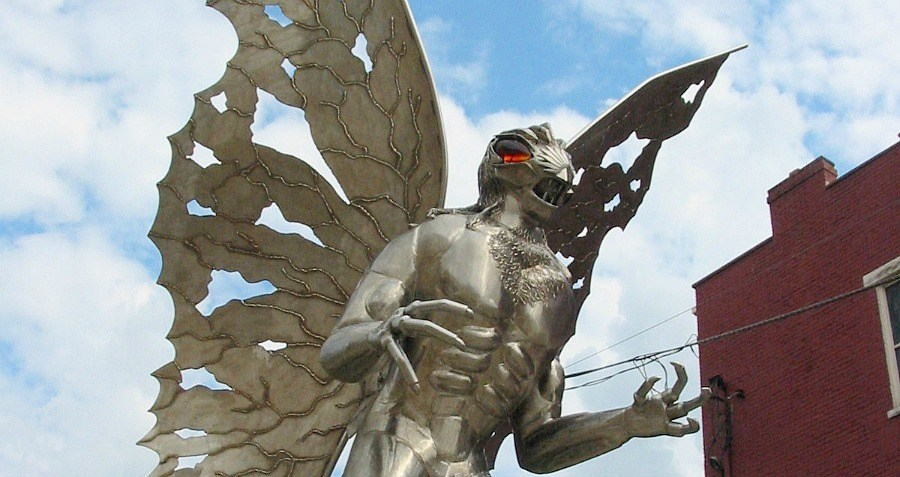 The Mothman Sculpture.