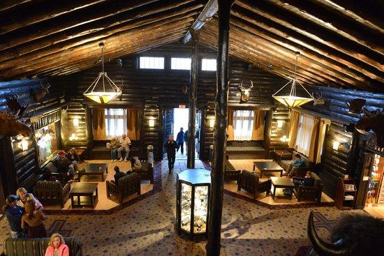 Inside the El Tovar Hotel