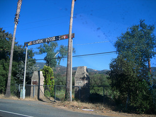 The last known photo of the Elfin Forest Campground Sign.