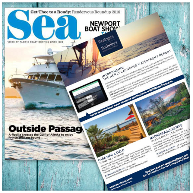 Sea magazine - Sea Magazine has been around for over 106 years (Born 1908 Seattle, Wa) and has been the number one marine publication serving active affluent boaters from the Pacific Northwest including British Columbia and Alaska, clear down to Southern California and Baja California, Mexico. They own boats in the 40' to 90' range and have the money to spend. September issue at Lake Union Boat Show!