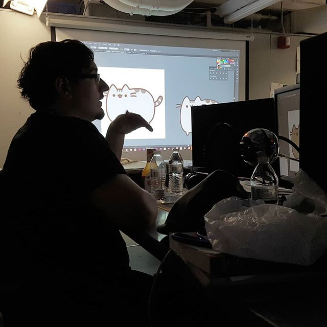3rd year Digital Design student Jerry Bellone teaching valuable skills in Adobe Photoshop and Illustrator from our Tools of the Trade last Friday.  The full recording will be up soon on our YouTube channel!  youtube.com/njitsiggraph  #njitsiggraph #events #toolsofthetrade #adobe #photoshop #illustrator