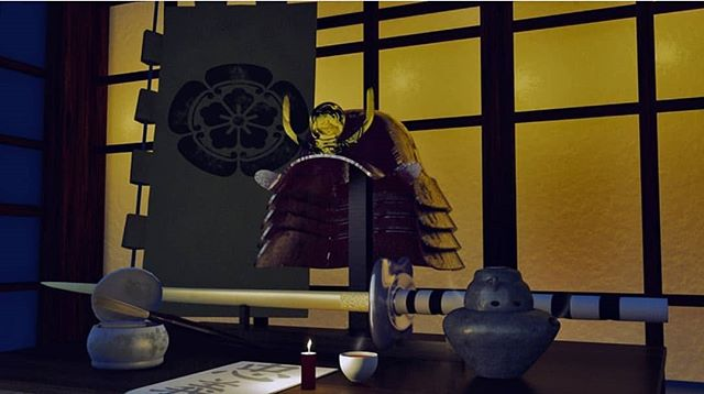 Vanitas render of a samurai's desk by @gcgdesigns (our event planner!) for 3rd year studio.  #c4d #cinema4d #3d #3dmodeling #3dmodel#physicalrender #rendering #render #digitaldesign #design #c4dart #art #digitalart #renders #modeling #samurai #swords #vanitas #student #studio #lighting #studentart #artstudent #substancepainter #octane #njitsiggraph #studentproject #studentwork  #leadusgio