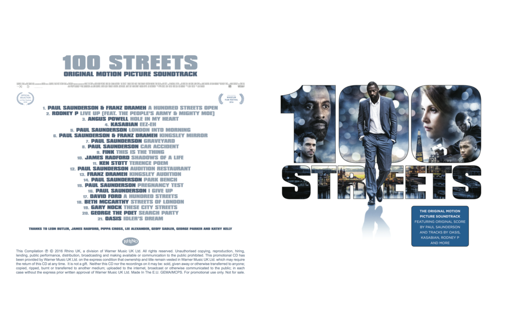 '100 Streets' featuring 'Streets Of London'  'Shadows Of A Life' and 'These City Streets' by James Radford