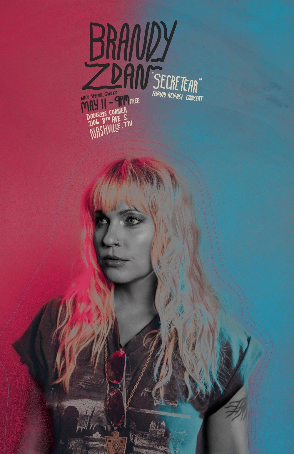 Brandy Zdan Album Release Show Flyer