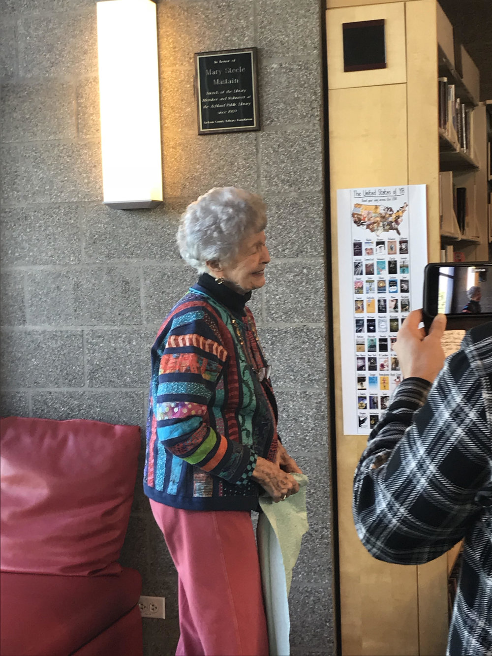 Mary Mastain unveils her plaque