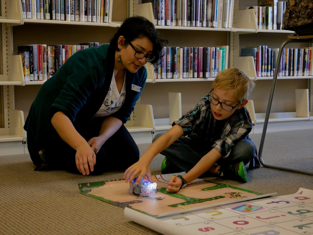 Robotics - Serious fun, but also serious learning in electronics, math, computational thinking, and more. When programming a robot, kids get instant feedback on whether their code is successful. Spark Space has robots for all ages and skill levels, from Blue-Bots and Makey Makey to The Finch Robot and Arduino Circuit Kits.