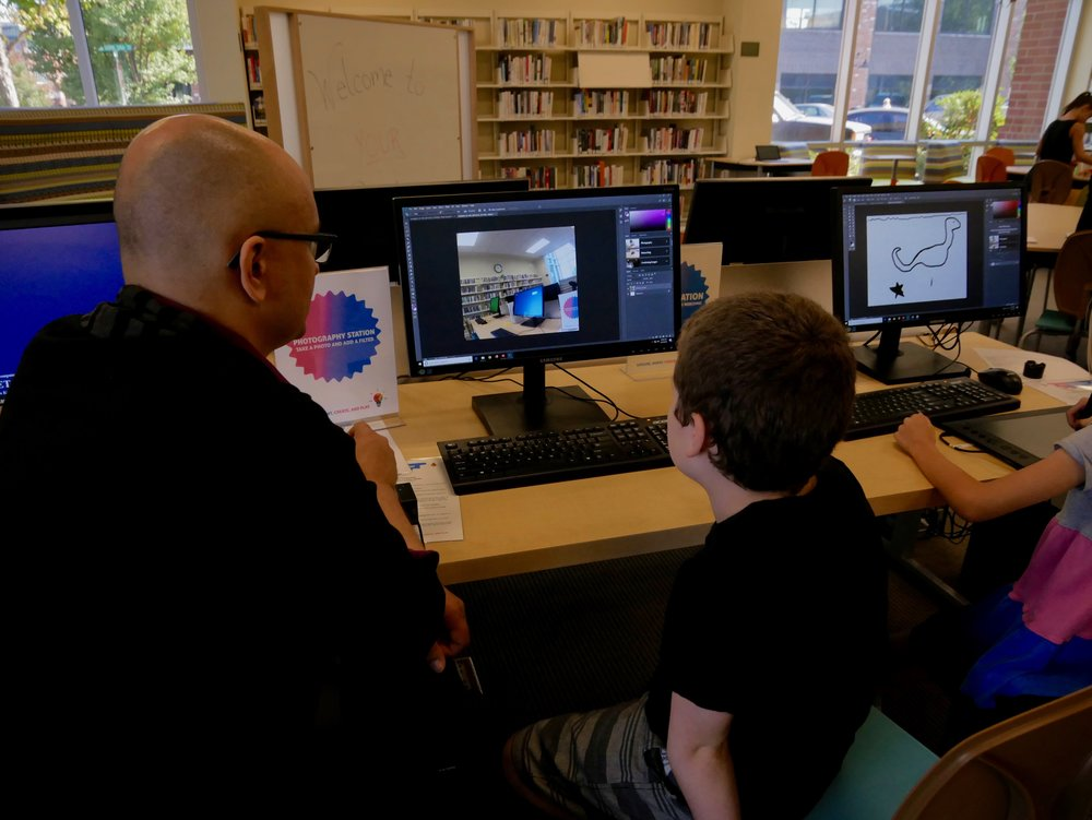 Creative Design - With access to Spark Space creative design tools—drawing tablets, Go-Pro style cameras, digital microphones, Hemingway Editor, and the full Adobe Creative Suite—the possibilities for creative expression (and learning) are limitless!