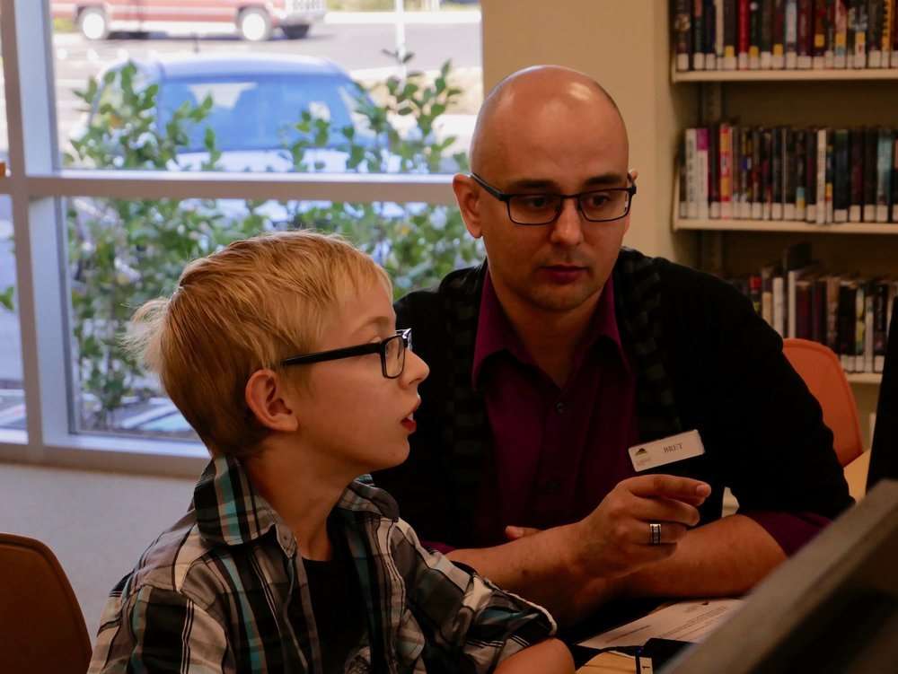 Homework Help - Spark Space offers free homework help from staff and volunteers, along with access to the Internet, computers, tablets, charging stations, color printing, and resources for independent learning. Leapfrog gaming/educational tablets are available for younger kids to use while older siblings work on homework.