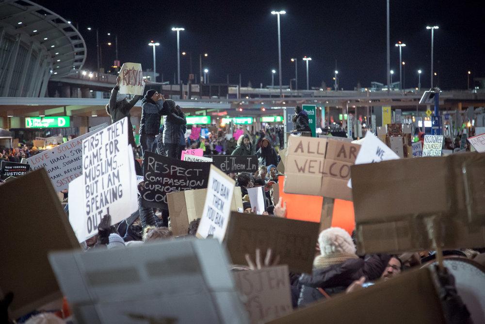 JFK Terminal 4 Protest