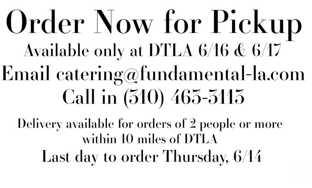 Food at Fundamental DTLA