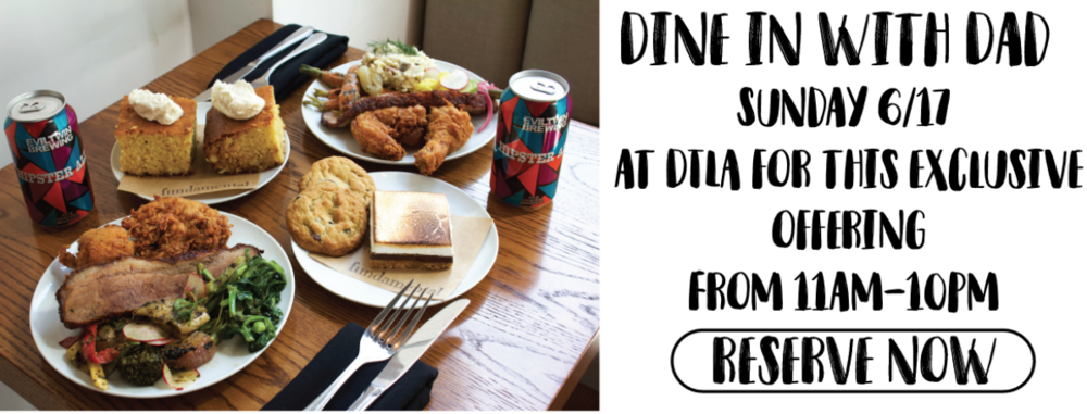 Dine with us this Father's Day