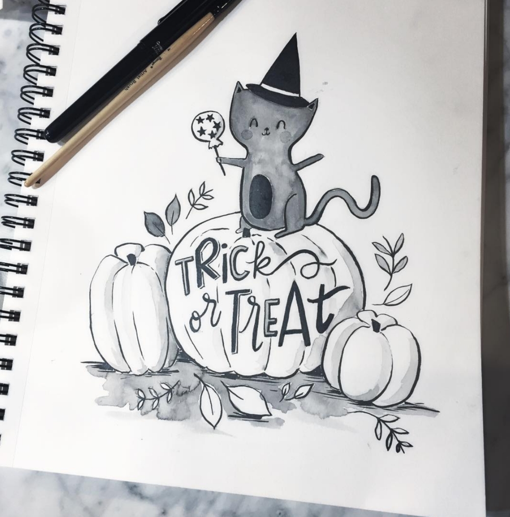 Loni Harris - Spook-tacular! Lots of cute ink drawings, mostly Halloween themed