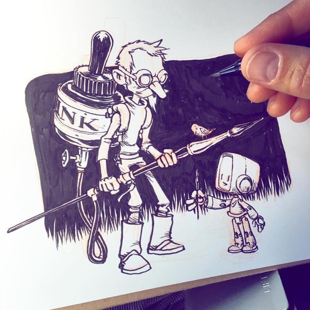 Illustration by Jake Parker.