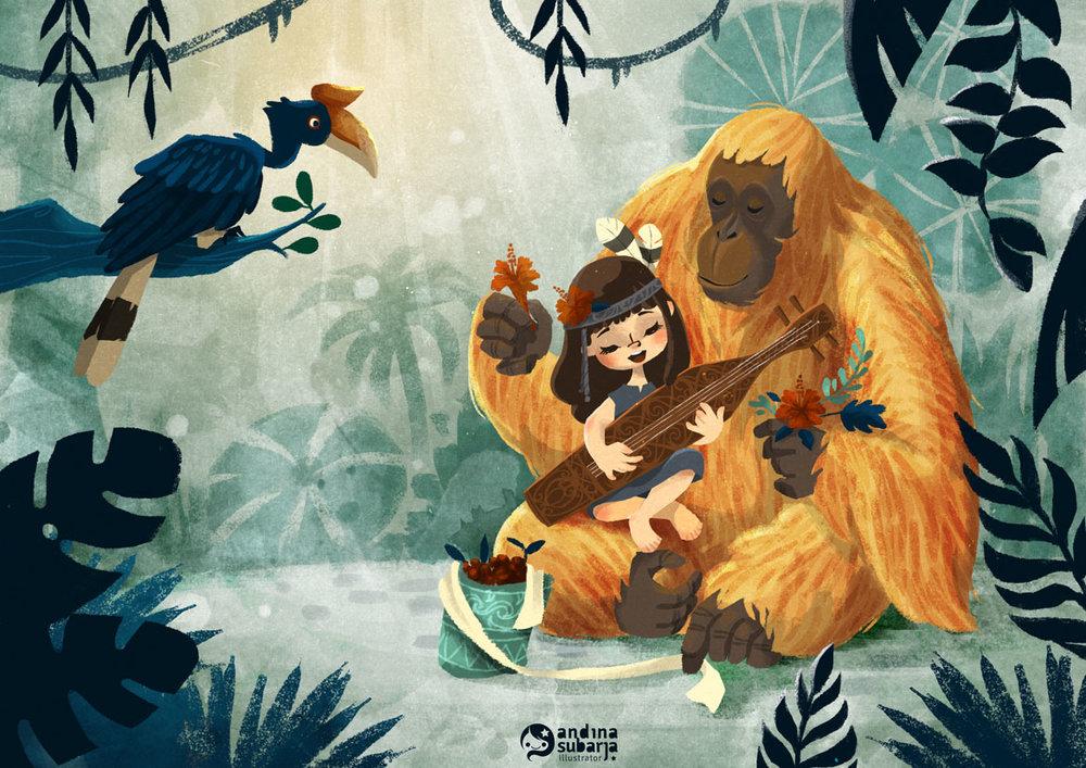 3rd Place! Art by Andina Subarja.