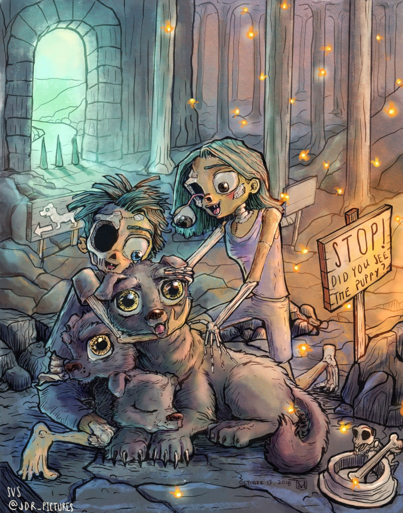 """Jason Rodriguez - """"Bonus points for making rotting corpses and monster dogs look ADORABLE."""""""