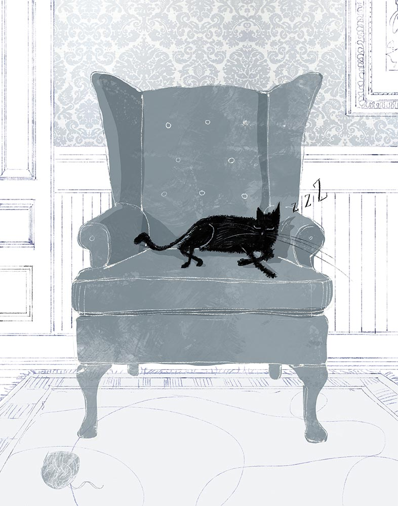 Cat Nap. Art by Lee White!