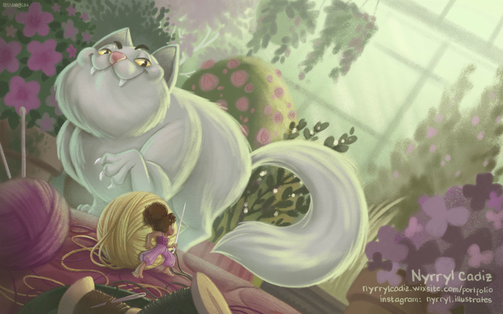 "Nyrryl Cadiz - ""We just had a big mouse, now it's time for a big cat! This one is so cool and I love the drama happening between the characters here.�"