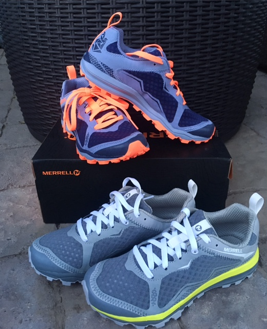 Trust me. You will not have a good hike if your feet aren't comfortable. I'm personally a sucker for Merrell's. My current faves are the Merrell All Out Crush Light Trail Runners. They work so well for hiking in addition to trail running because the bottoms are sticky and you'll slip less. I love these so much that I have two pairs.  Plus, I think they're pretty darn cute shoes.