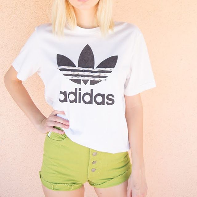➿Reworked adidas tees➿ #adidas #reworked #reworkedfashion #fashion
