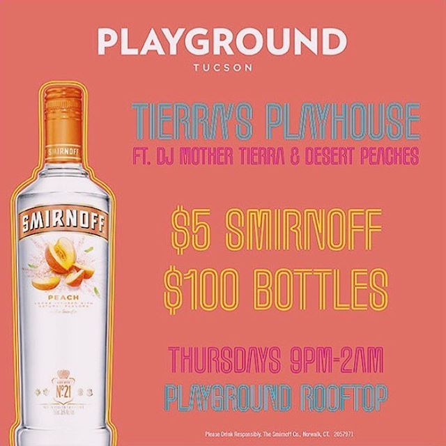 Tonight! Come enjoy the perfect rooftop weather with us and sip on some Smirnoff🌻
