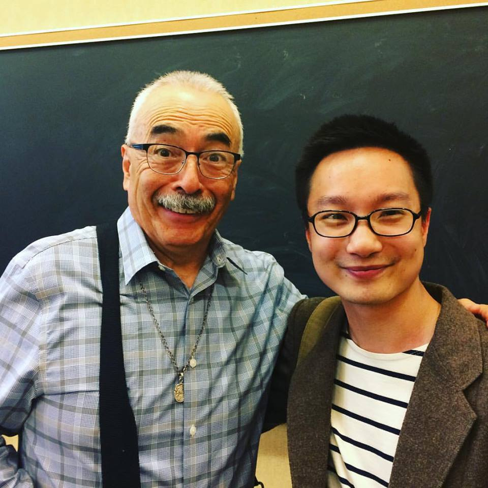 Left: US Poet Laureate Juan Felipe Herrera.  Right: Chen Chen, author of When I Grow Up I Want to Be a List of Further Possibilities, and PhD candidate at Texas Tech.