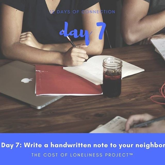Our challenge for you today is an easy one - but perhaps one of the most meaningful! Take just 15 minutes, and write a short handwritten note (or go Mark Twain-style and write a long letter!) to a neighbor of yours. In our hurried, technology-and-tweet driven lives, the act of actually writing things down is disappearing. But does anything feel better than receiving a real letter, penned in ink? So why not take a moment today to give a gift of connection to a neighbor that could use a little extra joy at this time of year.  Find more, including a downloadable letter template via the link in our bio.