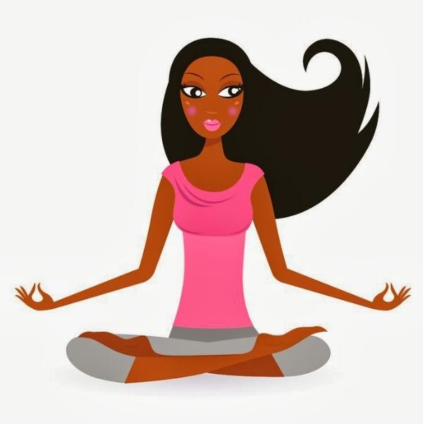 Image result for black yoga cartoon