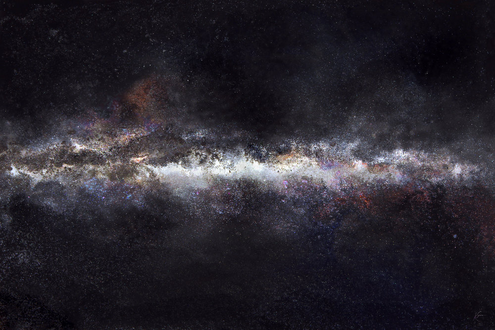 milky way galaxy - The most purchased painting of 2017.