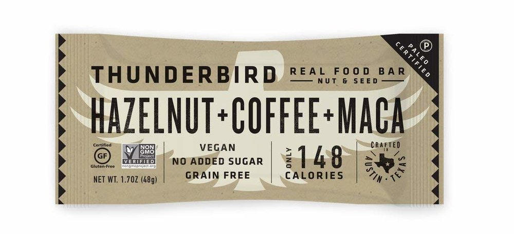 Thunderbird Hazelnut Coffee Maca Bar