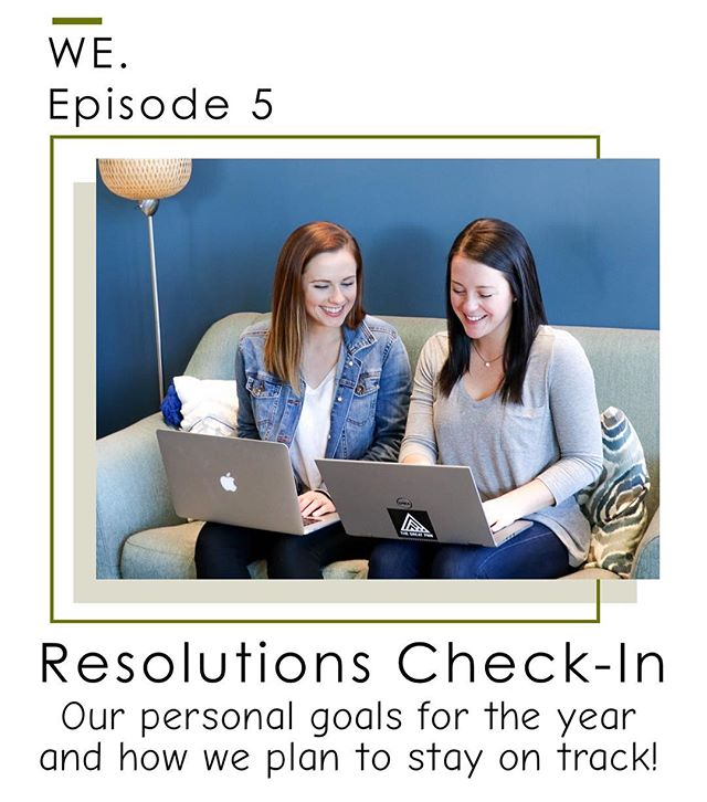 "Okay friends. Today's episode is something that is close to both of us. GOALS, PLANNING, and BEING OPEN TO CONSTANT CHANGE. Because it's February and most of us start to lose sight of the goals and intentions we set for this new year, we decided to do a ""new year's resolutions check in"". Where are you all at? How's it going? We hope you enjoy the tips we share today and get inspired to love the life you're living every day.  Oh! And 2 things: WE have an awesome discount for an @intentionalco planners. Use the code WE for $5 off! Lastly, we would love for you to get start getting involved in our Oregon communities - listen for our request at the end☺️ #wewednesday"