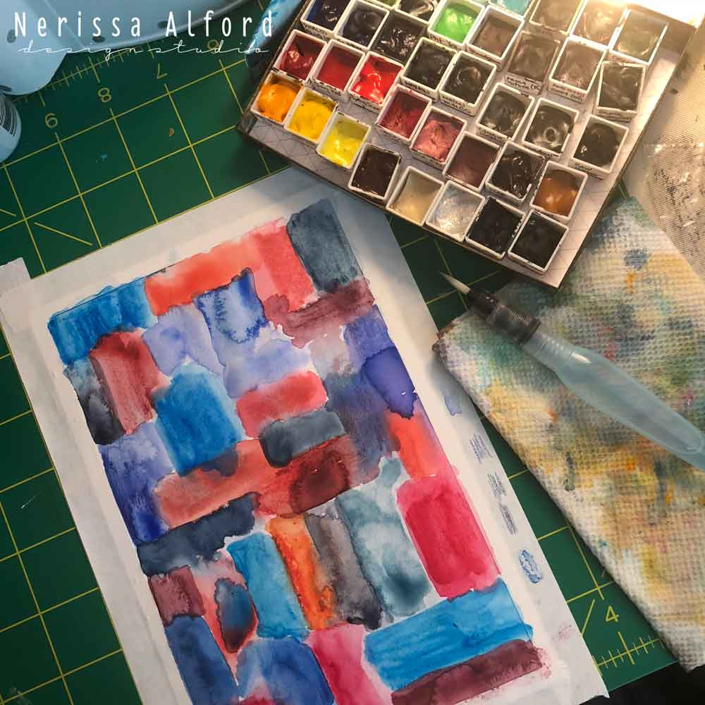 "This is a wet mixed media background titled ""Patriotic"". I've got plans for you :)"