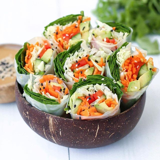 Food combining chart r a w a n d f r e e raw summer rolls are always a good idea forumfinder Image collections