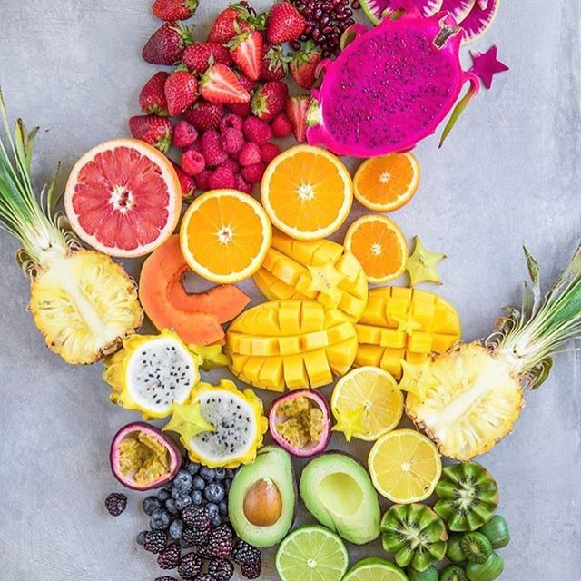Fruit for life! 🍉🍇🍓🍍🍊🍌Many people believe one should avoid eating an excessive amount of fruit, mainly because of the high sugar content. I often read that the suggested amount is no more two pieces per day! 😳😳😳 I cannot rate any other food higher than pure, raw fruits, berries and melons. I consume fruit more than any other food and it's what helped to reverse my auto immune disease and improve my overall health. Fruits are high in antioxidants and astringents and have the highest magnetic energy of all foods. They are excellent brain and nerve foods, keep your lymphatic system moving and are superior in your bodies natural detoxification process. Simple sugars 🍇🍌🍓🍉🌿 (fruit), require minimal digestive effort and convert easily into carbohydrates which our body will then use to nourish, repair and energise cells. Complex sugars (processed food etc) 🍫🍭🍡🍪🍩 are the sugars that are detrimental to our health. They require much more digestive effort to convert into simple sugars before they can be used by the body and demand high levels of cortisol from the adrenal glands. In my personal opinion from living on a high fruit diet for nearly 4 years now, I believe whole fruits, berries and melons contribute hugely to optimum health and well being and I think there has been an insane misconception about avoiding fruit. We're all different and some can tolerate more fruit than others but from a pure health perspective, I feel fruit is highly underrated and the many incredible health benefits we receive from consuming a high fruit diet are often overlooked in our society.. 🍇🍌🌿🍓🍍🍊🙌🏽 #eatmorefruit Beautiful pic by @choosingchia