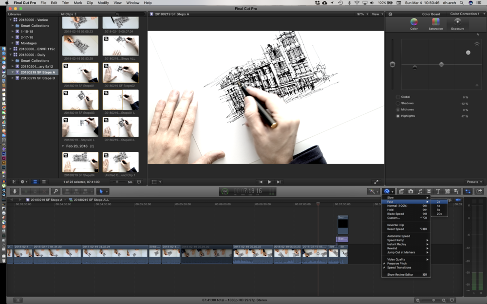 final cut pro video sketch