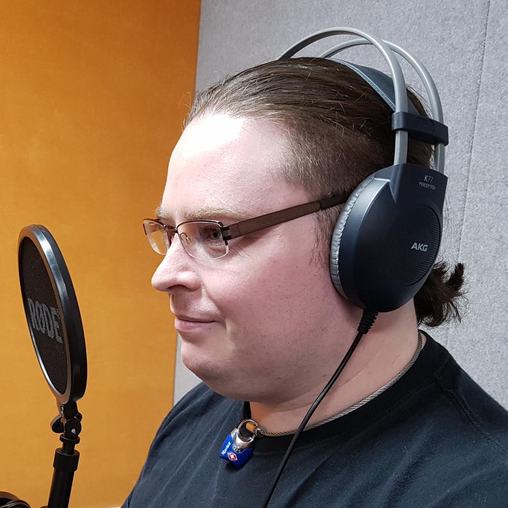 Producer Lee Davis-Thalbourne In Studio