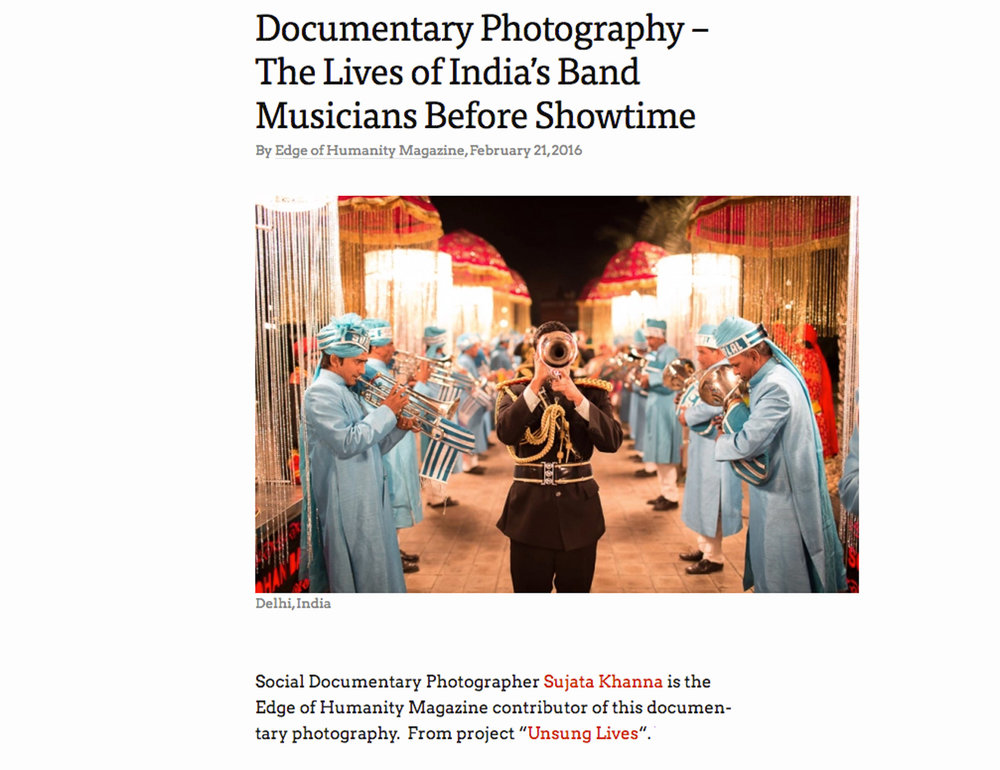 Documentary Photography - The Lives of India's Band Musicians before showtime