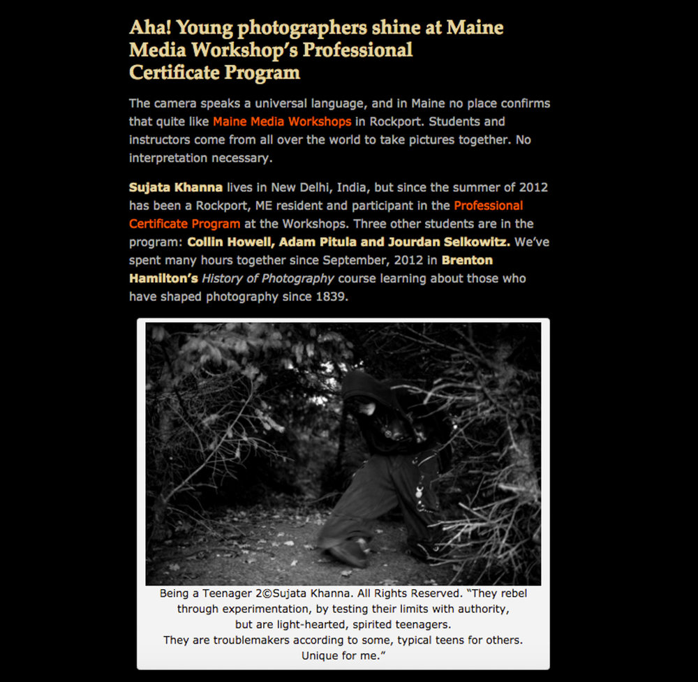 Aha! Young photographers shine at Maine Media Workshop's Professional Certificate Program